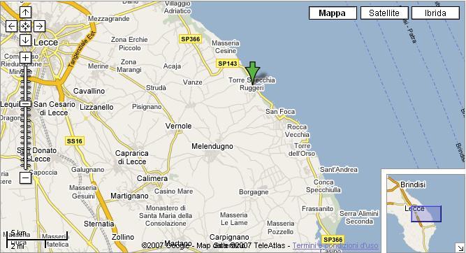 Cartina Puglia Costa Adriatica.B B Salento Casa Vacanza Sul Mare Nel Salento A Torre Specchia B B In Salento La Guglia